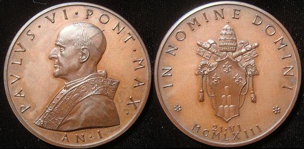 Paul VI Election Medal Larger Version 50mm Photo