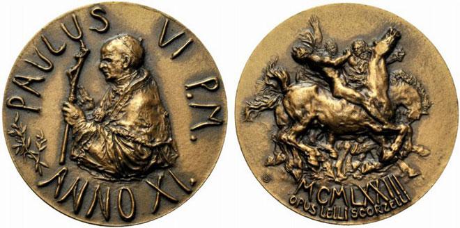 Paul VI (1963-78) Anno XI Bronze Medal Photo