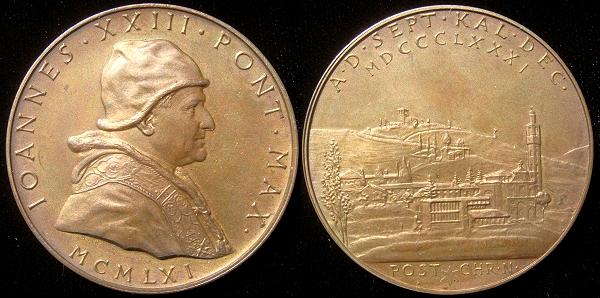 John XXIII 1961 80th Birthday Bronze Medal Photo