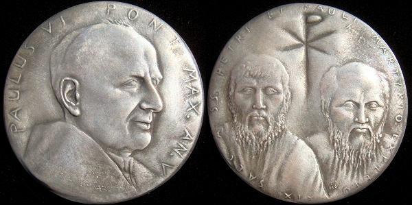 Paul VI (1963-78) Anno V Silver Medal Photo