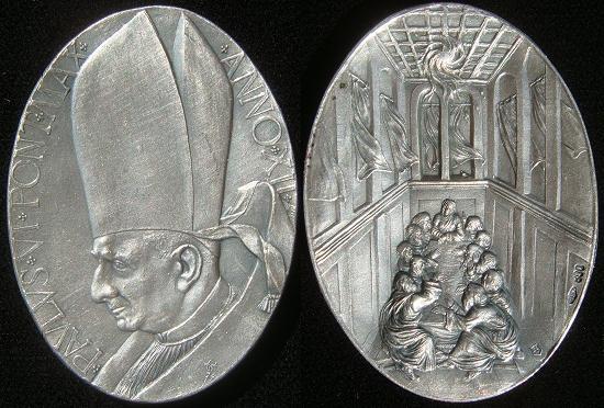 Paul VI (1963-78) Anno XII Silver Medal Pentecost Photo