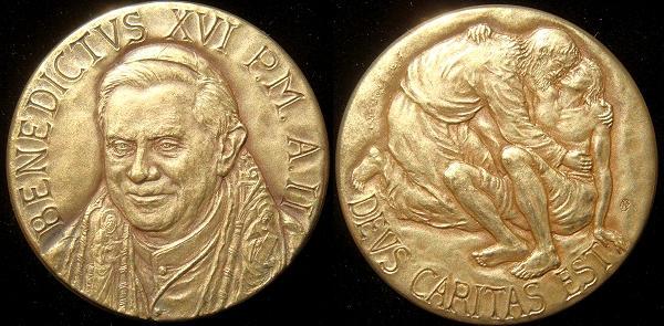 Benedict XVI Anno II Bronze Medal Photo
