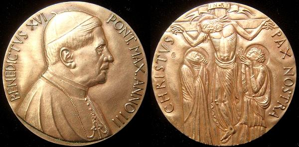 Benedict XVI Anno III Bronze Medal Photo