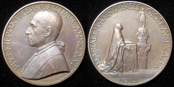 Pius XII (1939-58) Anno XVI Marian Year Photo