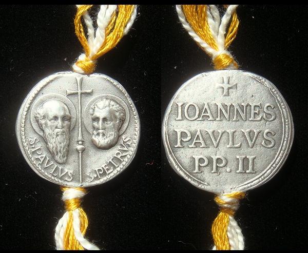 John Paul II .925 Silver Seal (Bulla) Photo