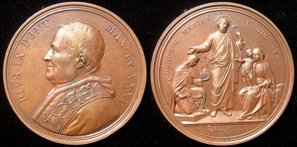 Pius IX (1846-78) A.XXXI Bronze Medal Photo