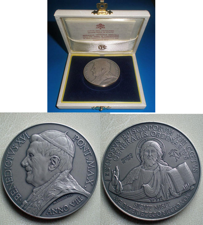 Benedict XVI A.VIII Ag Medal Synod of Bishops Photo