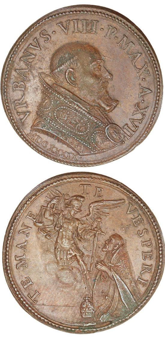 Urban VIII (1623-44) Archangel Michael Medal Photo