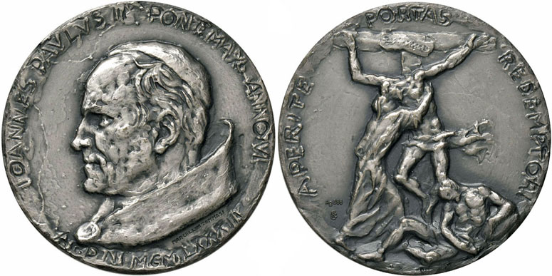 John Paul II Anno VI Silver Medal Photo