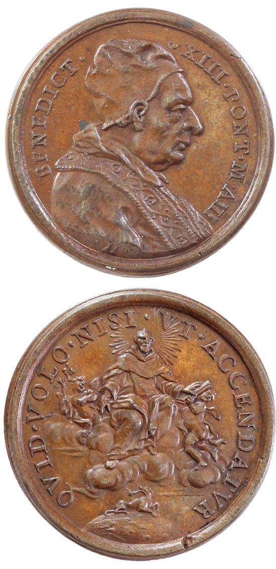 Benedict XIII (1724-30) St. Dominic Medal Photo