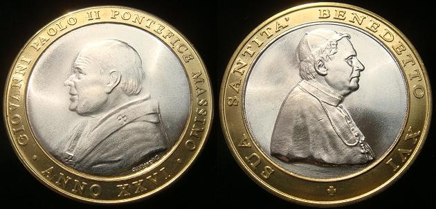 Benedict XVI/John Paul II (2005) Bimetal Photo