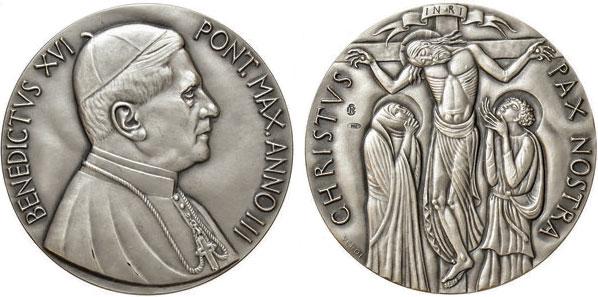 Benedict XVI Anno III Silver Medal Photo