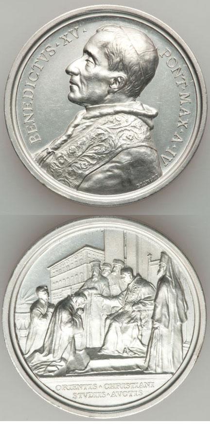 Benedict XV (1914-22) Anno IV Oriental Institute Photo
