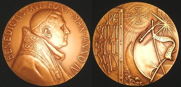 Benedict XVI Anno IV Bronze Medal Photo