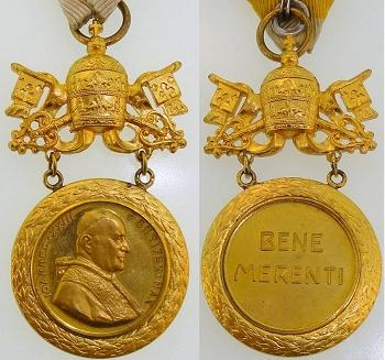 John XXIII BENE MERENTI Medal Photo