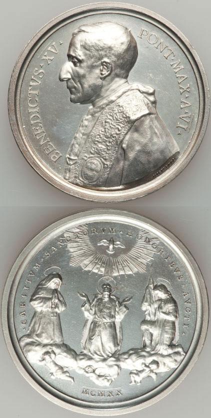 Benedict XV (1914-22) A.VI Silver 3 New Saints Photo
