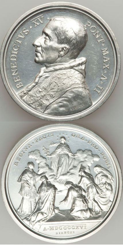 Benedict XV 1916 Appeal for Peace Silver Medal Photo