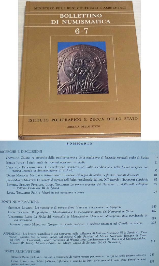 Bollettino di Numismatica 6-7 (IPZS, 1986) Photo