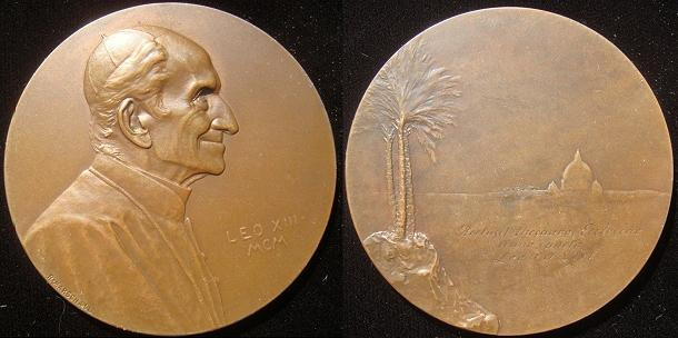Leo XIII 1900 Medal by Austrian R. Marschall Photo