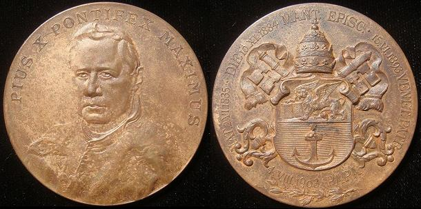 Pius X (1903-14) 50mm Bronze 1903 Election Medal Photo