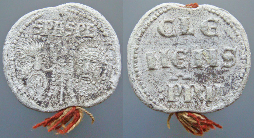 Clement V (1305-1314) Papal Seal Photo
