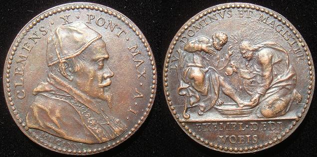 Clement X 1671 Washing of the Feet Medal Photo