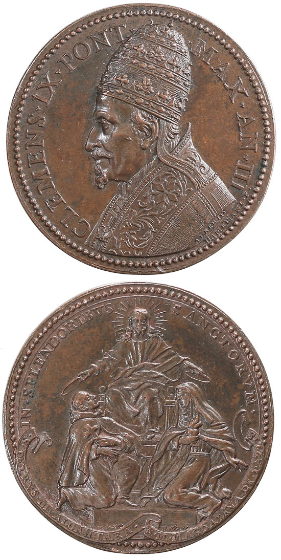 Clement IX 1669 Canonization of 2 Saints Photo