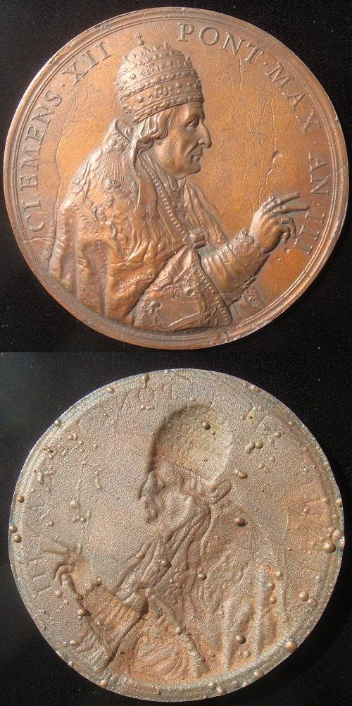 Clement XII (1730-40) Anno III Papal Medal 69mm Photo