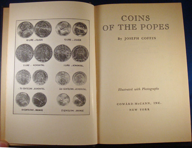 Coins of the Popes Book, Joseph Coffin Photo