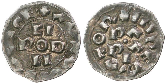 Italy: Pavia Denaro 1027-39 Conrad II H.R.E. Photo