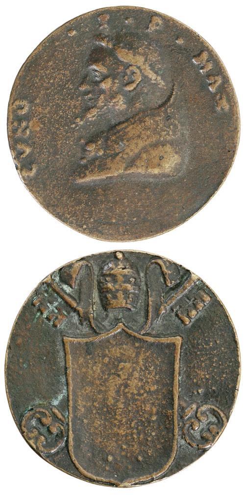 Pope Conon (686-7) Cast Bronze Papal Medal Photo