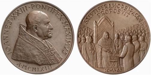 John XXIII 1963 Balzan Prize Bronze Medal Photo