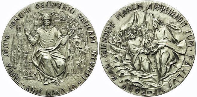 Paul VI 1964 Ecumenical Council Silver Medal Photo