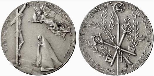 Paul VI 1965 Ecumenical Council Silver Medal Photo