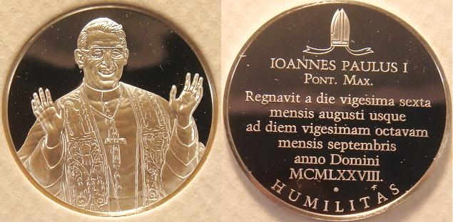 John Paul I 1978 Silver Proof Medal Photo