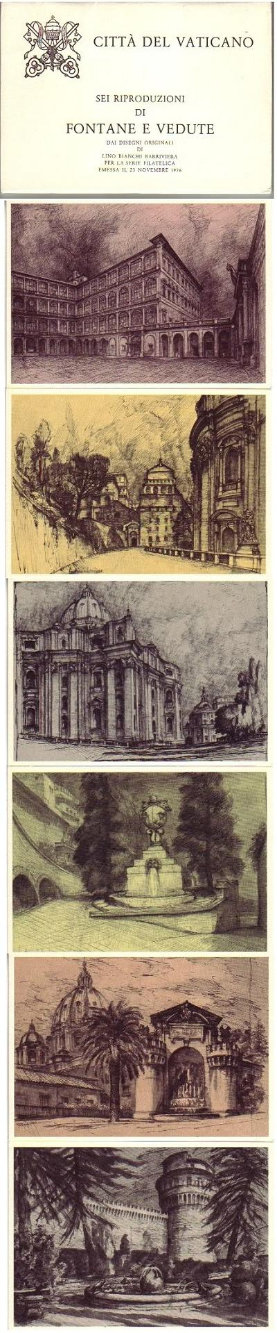 1978 Postcards Fountains and Views of Vatican City Photo