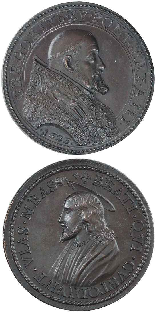 Gregory XV (1621-3) Bust of Christ Medal Photo
