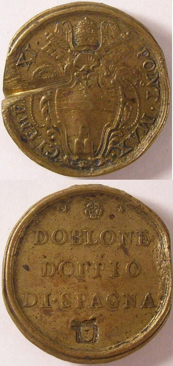 Clement XI (1700-21) Weight for 8 Scudi of Gold Photo
