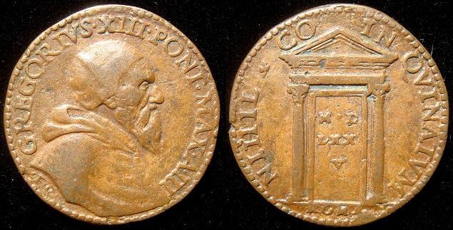 Gregory XIII 1575 Holy Door Medal Photo