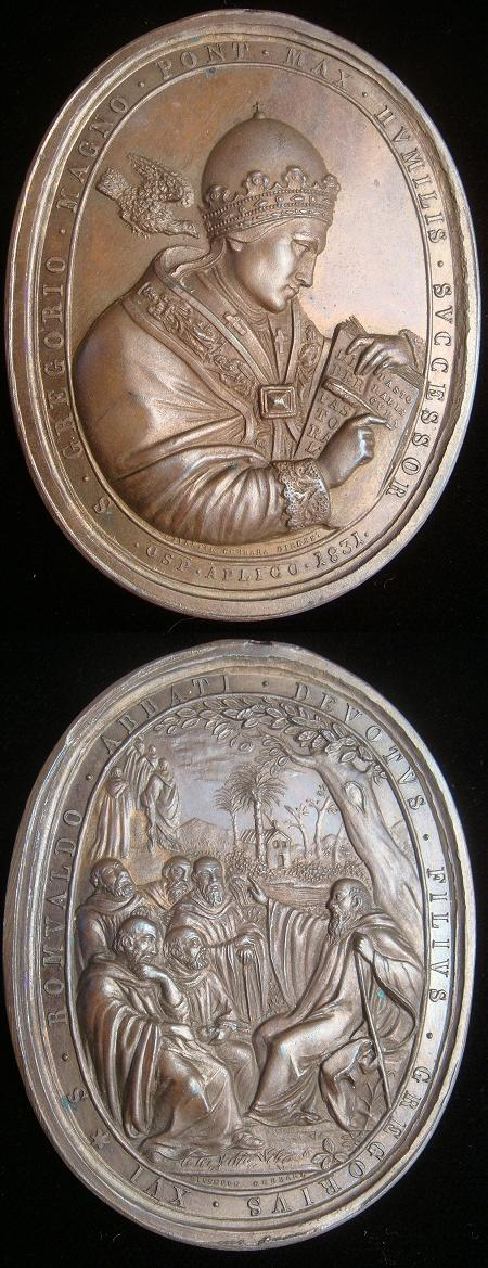 Gregory XVI (1831-46) Ss Gregory, Romuald Medal Photo