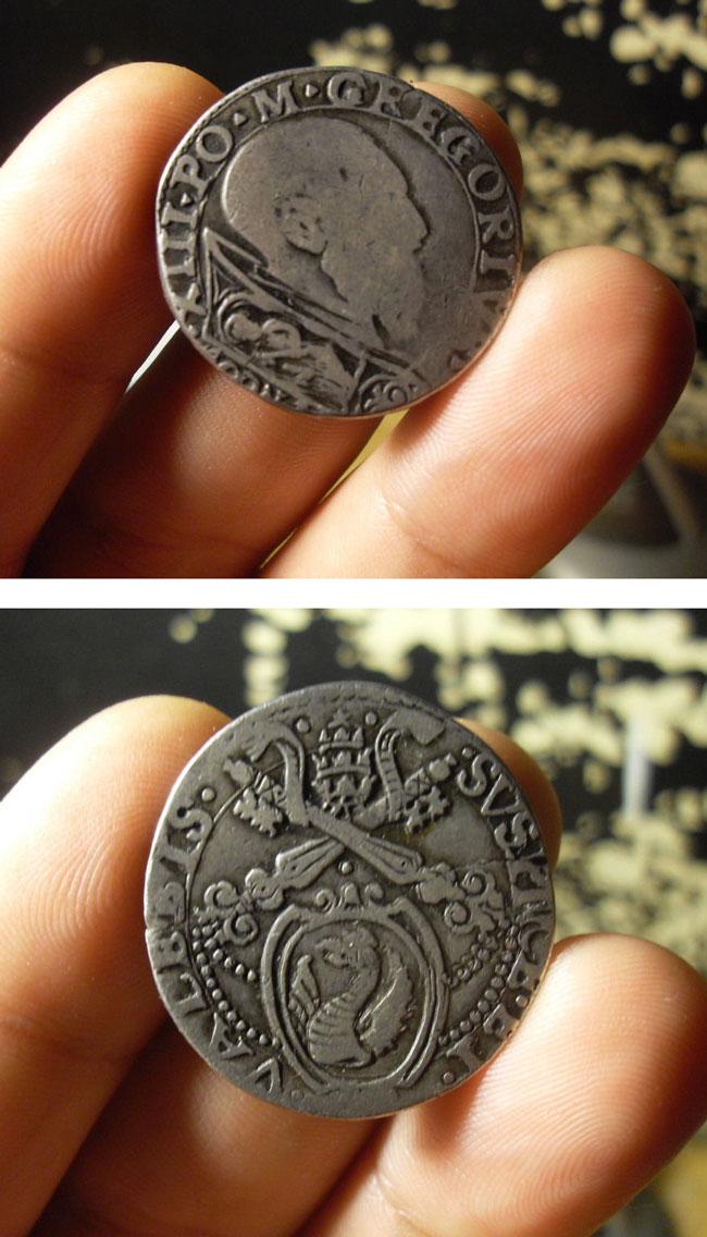 Gregory XIII (1572-85) Testone, Ancona Mint Photo