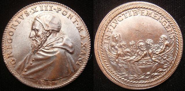 Gregory XIII (1572-85) St. Peter Medal Photo