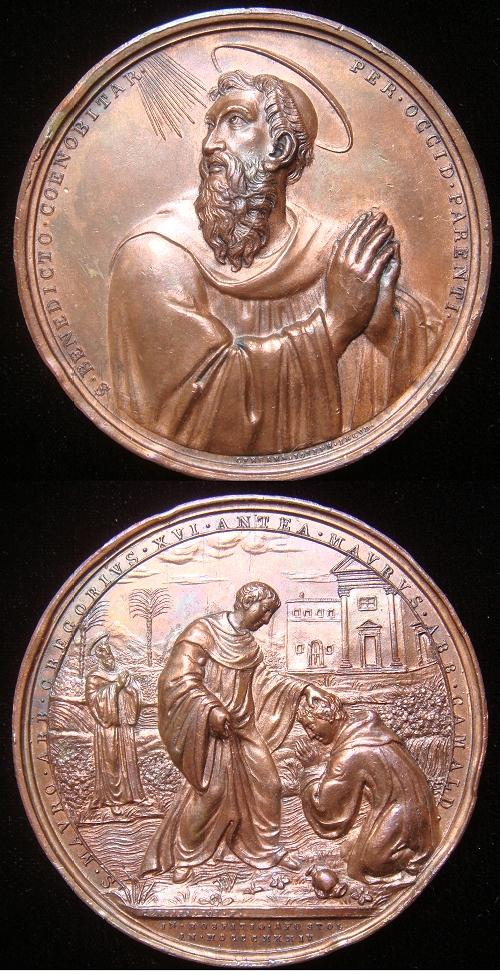 Gregory XVI (1831-46) Saints Benedict, Mauro 56mm Photo
