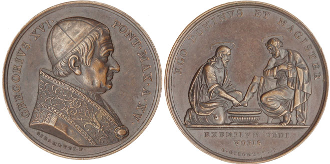 Gregory XVI (1831-46) Washing of the Feet Medal Photo