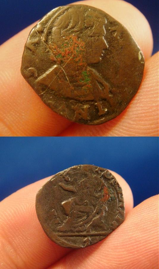(Hadrian VI 1522-3) Billon Sesino St. Anthony Coin Photo