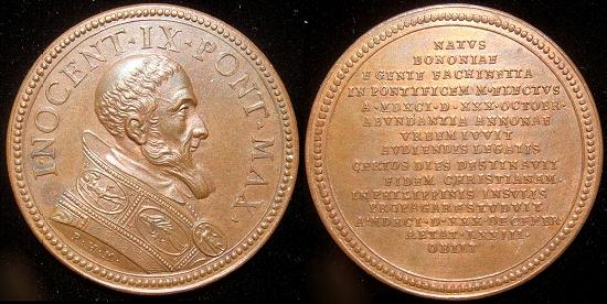 Innocent IX (1591) Muller Restitution Medal Photo