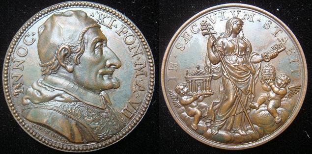 Innocent XI (1676-89) A.VII Church Standing Medal Photo