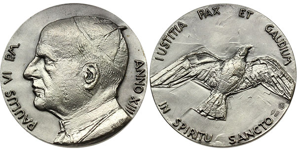 Paul VI (1963-78) Anno XIII Silver Medal Photo