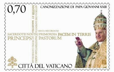 2014 Canonization John XXIII Stamp Photo