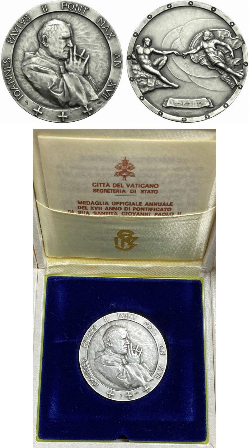 John Paul II A.XVII Ar Medal Evangelium Vitae Photo